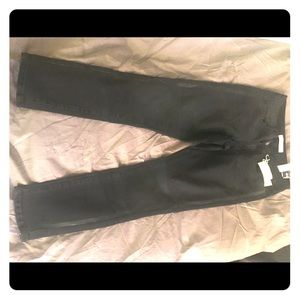 New lightweight black jeans with black stripes